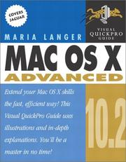 Cover of: Mac OS X 10.2 Advanced: Visual QuickPro Guide