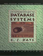 Cover of: Introduction to Database Systems, Seventh Edition | C. J. Date