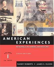 Cover of: American experiences by