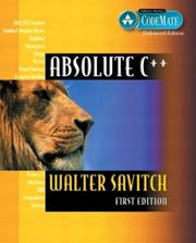 Cover of: Absolute C++, Visual C++.NET Edition (CodeMate Enhanced) | Walter Savitch