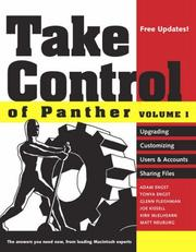 Cover of: Take Control of Panther, Volume 1 (Take Control of Panther) | Adam Engst