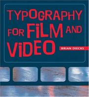 Cover of: Typography for Film and Video (Absolute Beginner