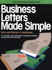 Cover of: Business letters made simple | Betty Hutchinson