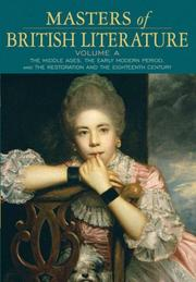 Cover of: Masters of British literature