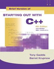 Starting out with C++ by Tony Gaddis