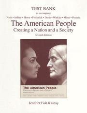 Cover of: The American People Test Bank | Jennifer Fish Kashay