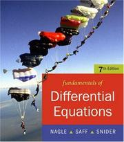 Cover of: Fundamentals of Differential Equations bound with IDE CD (Saleable Package) (7th Edition) | R. Kent Nagle