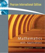 Cover of: Mathematics with Applications | Margaret L. Lial, Thomas Hungerford, John H. Holcomb