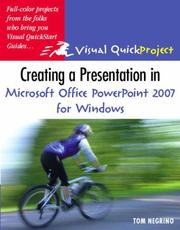 Cover of: Creating a Presentation in Microsoft Office PowerPoint 2007 for Windows | Tom Negrino