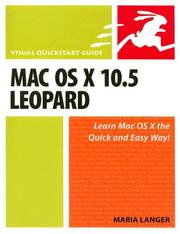 Cover of: Mac OS X 10.5 Leopard: Visual QuickStart Guide