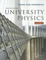 Cover of: Sears and Zemansky's university physics