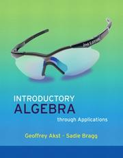 Cover of: Introductory Algebra through Applications | Geoffrey Akst