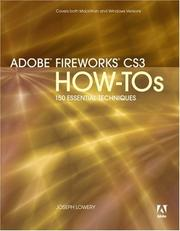 Cover of: Adobe Fireworks CS3 How-Tos | Jim Babbage