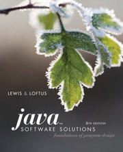 Java Software Solutions: Foundations of Program Design [With CDROM]