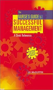 Cover of: The nurse's guide to successful management