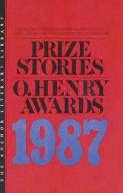 Cover of: Prize Stories 1987