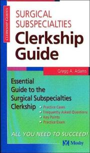 Cover of: Surgical Subspecialties Clerkship Guide (Clerkship Guides)