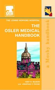 Cover of: The Osler medical handbook |