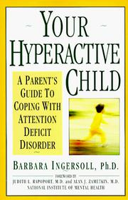 Cover of: Your hyperactive child