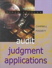 Cover of: Audit Judgment Applications | David Campbell