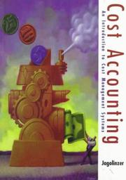 Cover of: Cost Accounting | Philip Jagolinzer