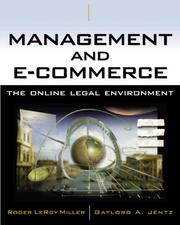 Cover of: Management and E-Commerce: The Online Legal Environment