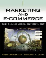 Cover of: Marketing and E-Commerce: The Online Legal Environment