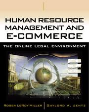 Cover of: Human Resource Management and E-Commerce | Roger LeRoy Miller