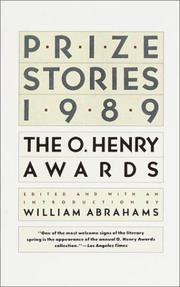 Cover of: Prize Stories 1989