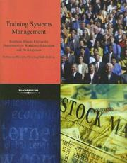 Cover of: Training Systems Management, SIU Edition | SIU