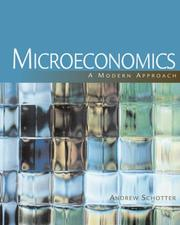 Cover of: Microeconomics | Andrew Schotter