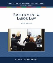 Employment and Labor Law by Patrick J. Cihon, James Ottavio Castagnera