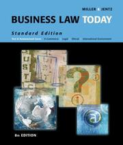 Cover of: Business Law Today, Standard Edition