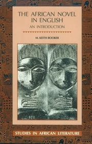 Cover of: The African novel in English