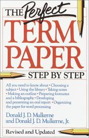 Cover of: The Perfect Term Paper