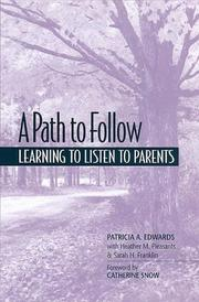 Cover of: A Path to Follow: Learning to Listen to Parents