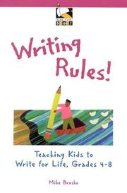 Cover of: Writing Rules! | Mike Brusko