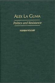 Cover of: Alex La Guma | Nahem Yousaf