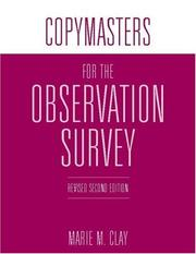 Cover of: Copymasters for the Observation Survey:
