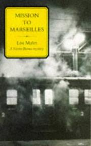 Cover of: Mission to Marseilles (Nestor Burma Mysteries)