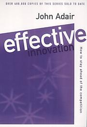 Cover of: Effective Innovation