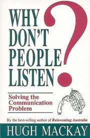 Cover of: Why don't people listen?