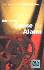 Cover of: Cause for Alarm (Pan Classic Crime)