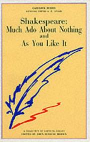 Cover of: Shakespeare, Much Ado about Nothing and as You Like It