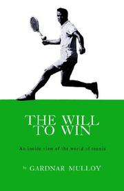 Cover of: The Will to Win | Mulloy