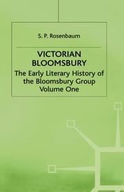 Cover of: The early literary history of the Bloomsbury group