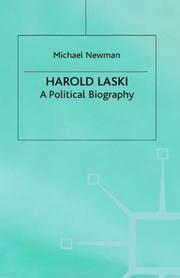Cover of: Harold Laski: a political biography
