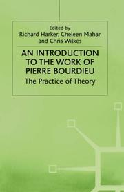 Cover of: An Introduction to the Work of Pierre Bourdieu |
