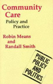 Cover of: Community Care (Public Policy & Politics) | Robin Means, Randall Smith