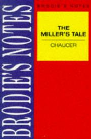 "Cover of: Brodie's Notes on Chaucer's ""Miller's Tale"" (Brodies Notes) 
